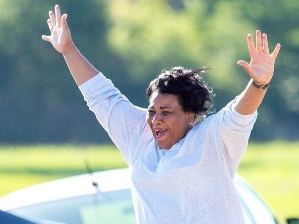 Alice Johnson after being released from prison.